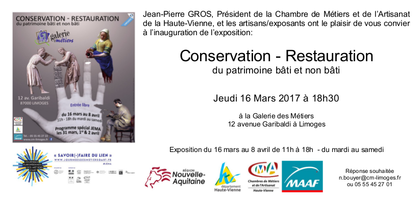 Conservation Restauration 2017